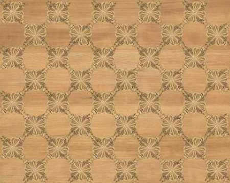 Wood tile, blond backkground coloring with darker butterfly checkerboard pattern inlay  Faux Wood Marquetry Great textured design for flooring, wallpaper  Nice classic look  photo