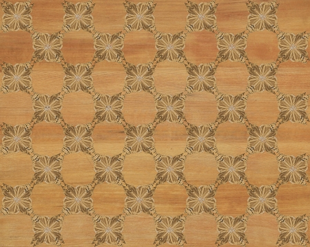 marquetry: Wood tile, white oak look with darker butterfly checkerboard pattern inlay  Faux Wood Marquetry Great textured design for flooring, wallpaper  Nice classic look