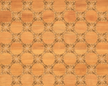 inlay: Wood tile, red oak look with darker butterfly checkerboard pattern inlay  Faux Wood Marquetry Great textured design for flooring, wallpaper  Nice classic look