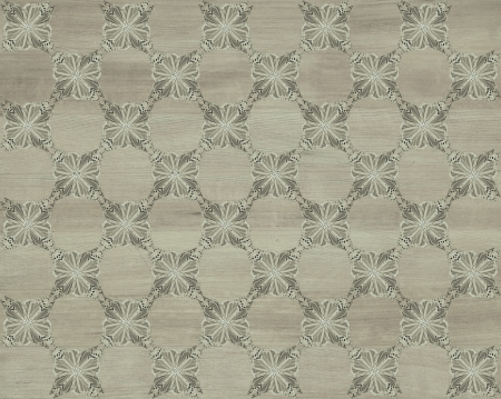 inlay: Wood tile, gray coloring with darker butterfly checkerboard pattern inlay  Faux Wood Marquetry Great textured design for flooring, wallpaper  Nice classic look