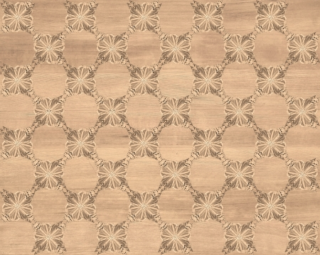 inlay: Wood tile, light reddish brown with darker butterfly checkerboard pattern inlay  Faux Wood Marquetry Great textured design for flooring, wallpaper  Nice classic look  Stock Photo
