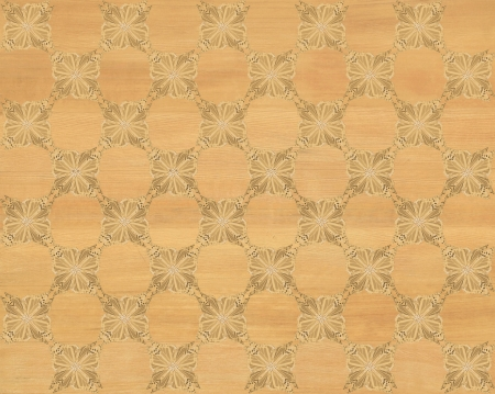 marquetry: Wood tile, pine coloring with darker butterfly checkerboard pattern inlay  Faux Wood Marquetry Great textured design for flooring, wallpaper  Nice classic look
