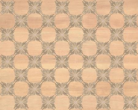 marquetry: Baldosa de madera, color marr�n claro con tablero de ajedrez m�s oscura de la mariposa patr�n de incrustaciones de imitaci�n de madera Marqueter�a Gran dise�o de textura para el suelo, fondos de escritorio de aspecto cl�sico de Niza