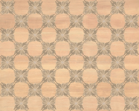Wood tile, light brown coloring with darker butterfly checkerboard pattern inlay  Faux Wood Marquetry Great textured design for flooring, wallpaper  Nice classic look