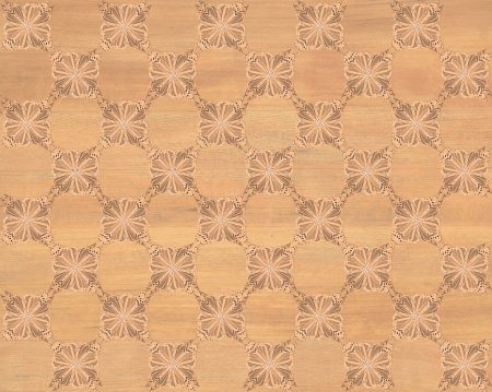 marquetry: Wood tile with darker butterfly checkerboard pattern inlay  Faux Wood Marquetry Great textured design for flooring, wallpaper  Nice classic look  Stock Photo