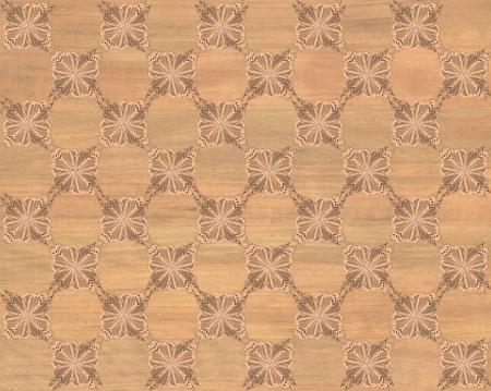 marquetry: Baldosa de madera, color roble rojo con el tablero de ajedrez m�s oscura de la mariposa patr�n de incrustaciones de imitaci�n de madera Marqueter�a Gran dise�o de textura para el suelo, fondos de escritorio de aspecto cl�sico de Niza Foto de archivo