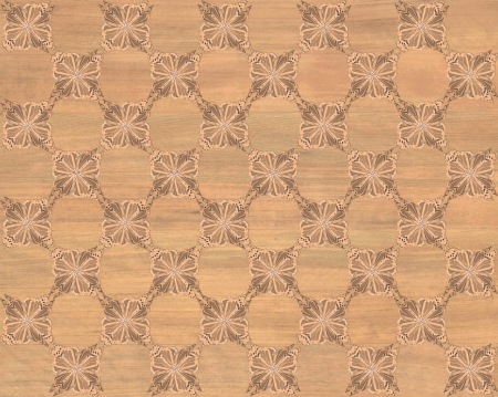 marquetry: Wood tile, red oak coloring with darker butterfly checkerboard pattern inlay  Faux Wood Marquetry Great textured design for flooring, wallpaper  Nice classic look
