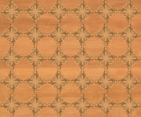 marquetry: Wood tile, dark blond coloring with darker diamond butterfly pattern inlay  Faux Wood Marquetry Great textured design for flooring, wallpaper  Nice classic look