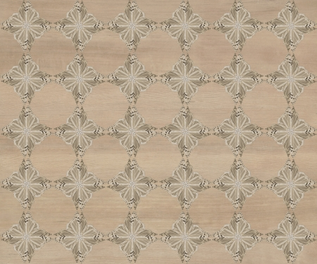 inlay: Wood tile, dark grayish brown with darker diamond butterfly pattern inlay  Faux Wood Marquetry Great textured design for flooring, wallpaper  Nice classic look
