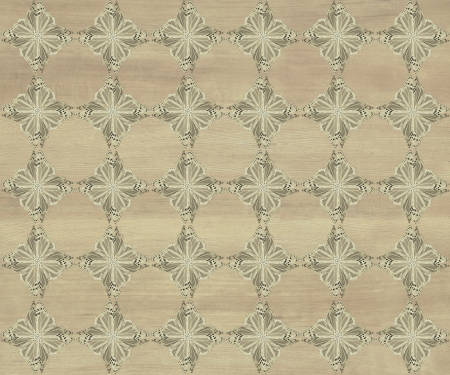 Wood tile, greenish brown with darker diamond butterfly pattern inlay  Faux Wood Marquetry Great textured design for flooring, wallpaper  Nice classic look