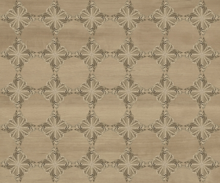 Wood tile, dark faded brown with darker diamond butterfly pattern inlay  Faux Wood Marquetry Great textured design for flooring, wallpaper  Nice classic look  Stock Photo