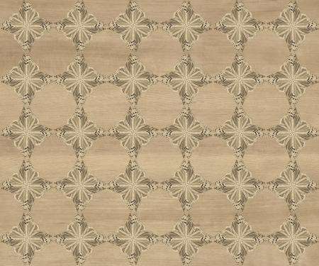 inlay: Wood tile, light faded brown with darker diamond butterfly pattern inlay  Faux Wood Marquetry Great textured design for flooring, wallpaper  Nice classic look