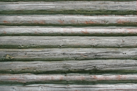 Horizontal log house wall, weathered and aged. Stock Photo - 13786852
