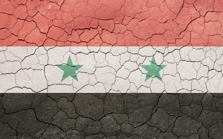 Faded, gebarsten, en oude textuur, Syrische vlag.
