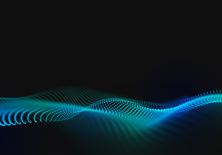 Abstract Wave Background with Connecting Dots and Lines. Abstract Flow. Connection Structure.