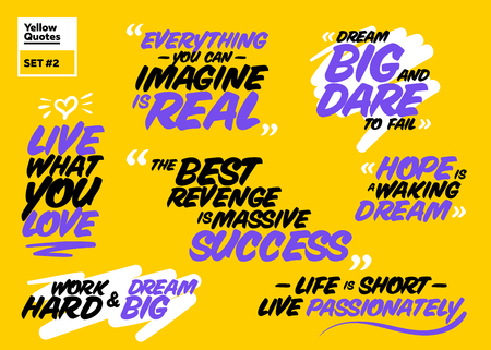 Vector Collection of Famous Inspirational Quotes. Stock Vector - 88127390