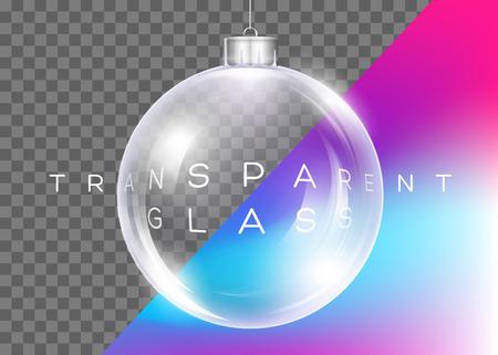Crystal clear christmas ball design.