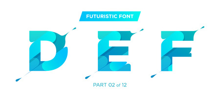 Vector Modern, Futuristic Typeface Design. Perfect for Poster, Logo, or as the Primary Typeface on a Modern Design. Clean Geometric Shape with Trendy Liquid Drip Effect. Urban, Minimalist Style.