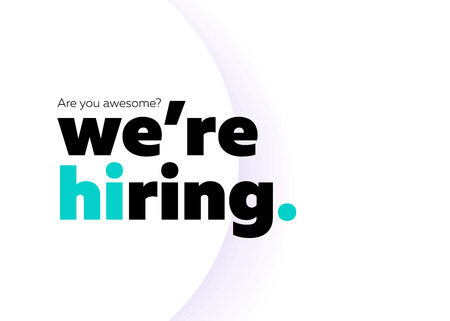 We are Hiring Vector Background. Trendy Bold Black Typography. Job Vacancy Card Design. Join Our Team Minimalist Poster Template, Looking for Talents Advertising, Open Recruitment Creative Ad. Illustration