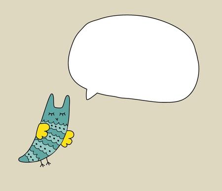 Owl Doodle Bubble