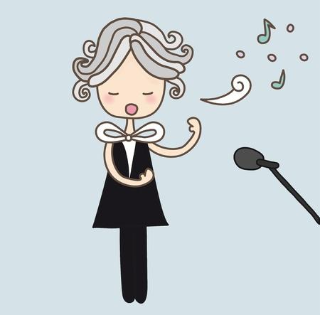 tenor: Opera Singer Illustration