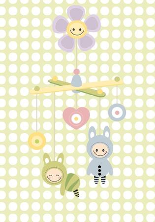 bebe cuna: Cuna beb� de juguete Vectores