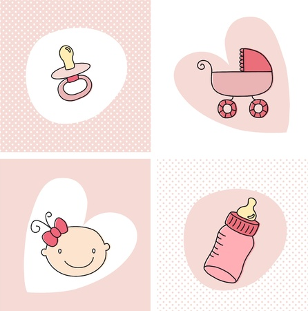 pacifier: Baby Girl Set