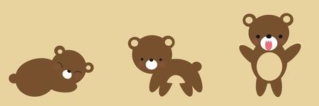 Cute Bear Growing
