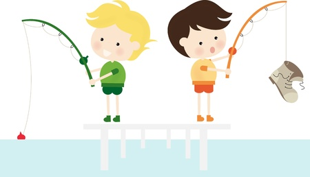 Fishing Boot Illustration