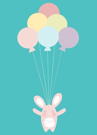 Flying Balloons Illustration