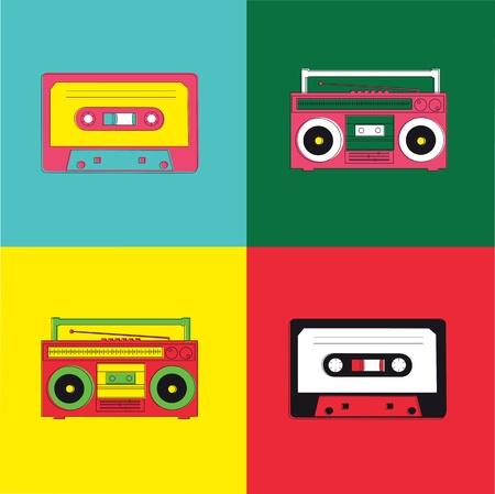 vintage art: Pop Art Radio Cassette