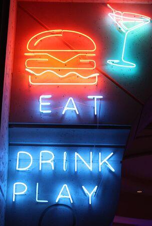 Neon sign in the Atlantis in Dubai Archivio Fotografico - 140513606