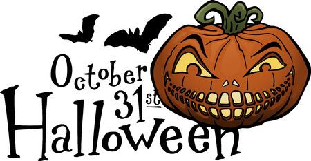 Halloween pumpkin, jack-o-lantern Vector