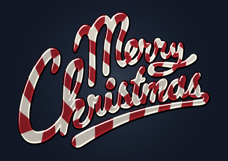 Merry christmas candy cane Stock Vector - 9011561
