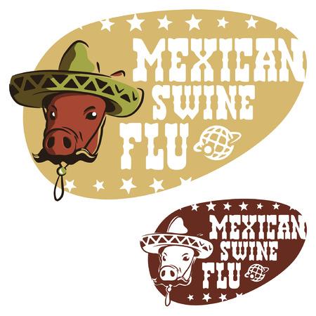 Mexicaanse griep varkens Stock Illustratie