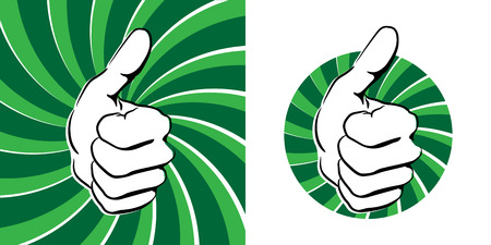 Thumbs up Stock Vector - 9011552