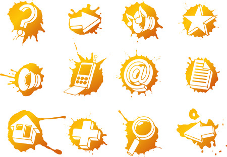 handglass: Web icons set Illustration
