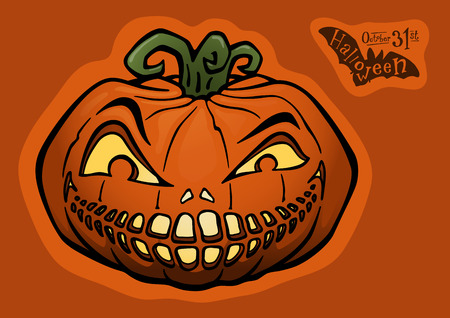 Halloween pumpkin, jack-o-lantern Stock Vector - 9086245