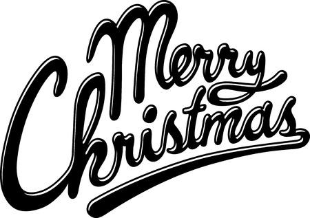 superscription: Merry christmas Illustration
