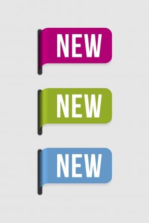 재료: 어떤 새로운 제품, 도착, 계절, 색깔을 강조하기 위해이 라벨을 사용