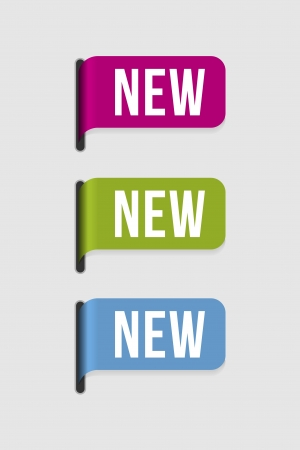 label: Gebruik dit label om iets nieuw product, aankomst, seizoen, kleur te markeren