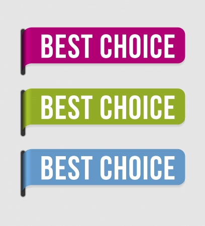 Use this label to highlight best choice  Vectores