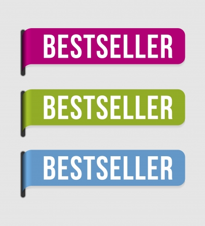 Use this label to highlight bestseller  Vector