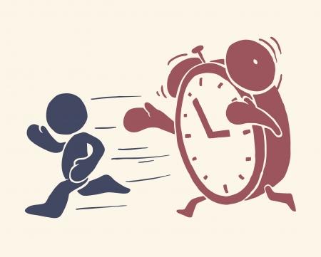 get up: Illustrazione concettuale Vintage di tempo si sta esaurendo