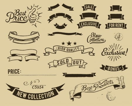 sold out: Vintage sale icons set