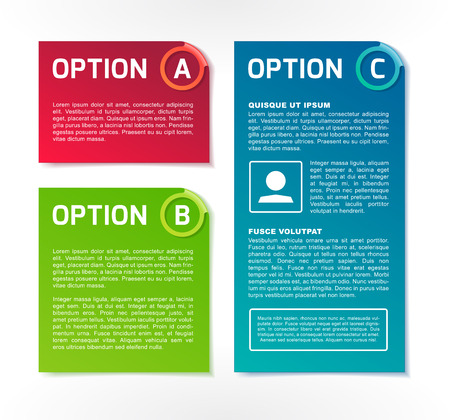 ABC vector colorful option banners Illustration