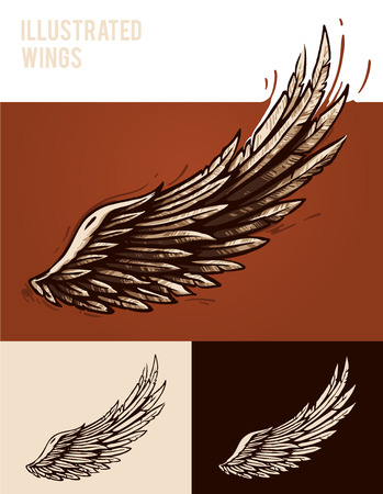 Illustrated wings Vector
