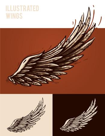 engel tattoo: Illustrierte Flügel