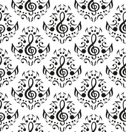 music band: Musical notes seamless pattern