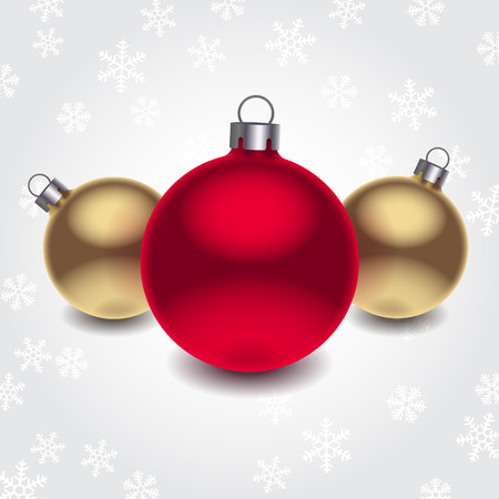 Vector 3d christmas balls over white background